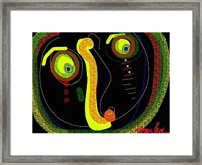 Dizzy Gillespie Cheek To Cheek Framed Print