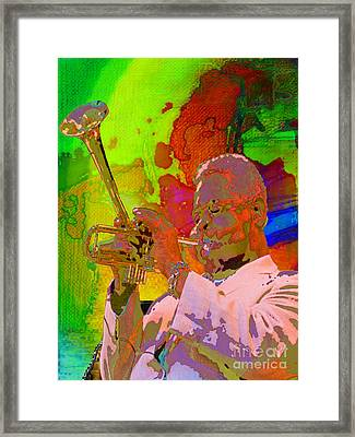 Framed Print featuring the painting Dizzy by Mojo Mendiola