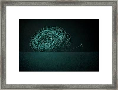 Dizzy Moon Framed Print