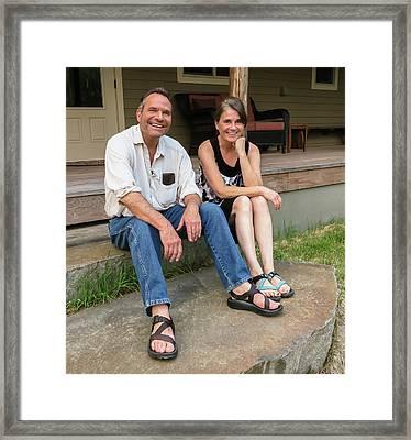 Dj And Cindy Framed Print