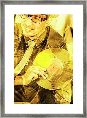 Dj House Music  Framed Print