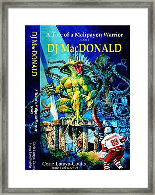 Dj Macdonald Book Cover Framed Print by Hanne Lore Koehler