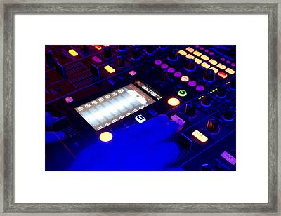 Dj On Deck Framed Print by Michael Wilcox