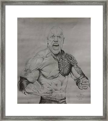 Dj The Rock Framed Print by DMo Herr