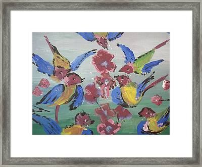 Framed Print featuring the painting Dlyg Birdsong by Judith Desrosiers