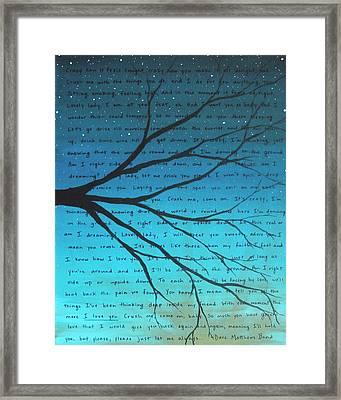 Dmb Crush Teal 8x10 Framed Print