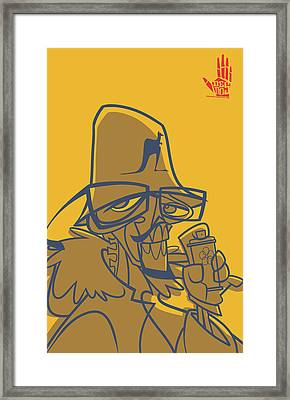 Dmc Skeleto Framed Print by Nelson Garcia