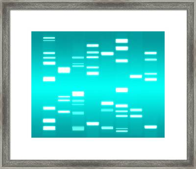 Dna Cyan Framed Print