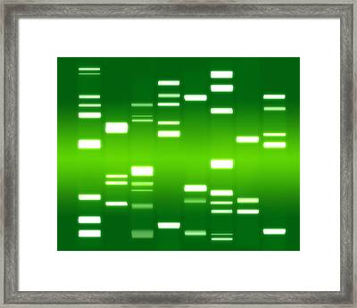 Dna Green Framed Print by Michael Tompsett