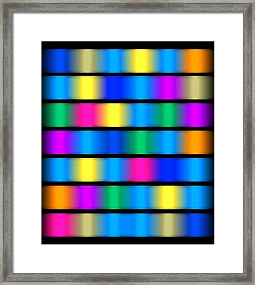 Dna Modern Paintings Abstract Bubble Wall Art Framed Print by Robert R Splashy Art