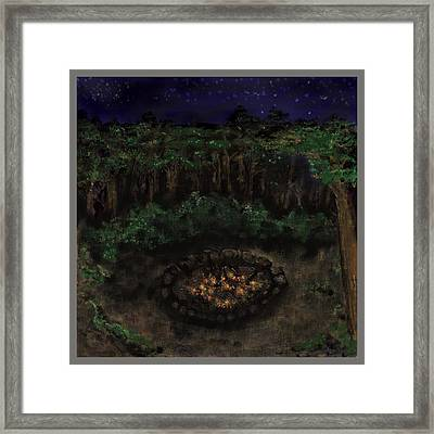 Framed Print featuring the painting Dancing Naked In The Forest Back Cover by Thomas Lupari