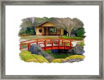 Do-00006 Cypress Bridge And Tea House Framed Print