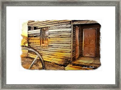 Framed Print featuring the photograph Do-00040 Old House Front by Digital Oil