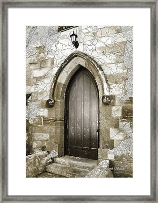 Framed Print featuring the photograph Do-00055 Chapels Door In Morpeth Village by Digital Oil