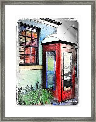 Do-00091 Telephone Booth In Morpeth Framed Print