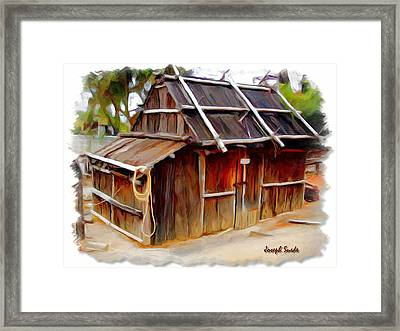 Framed Print featuring the photograph Do-00129 Old Cottage by Digital Oil