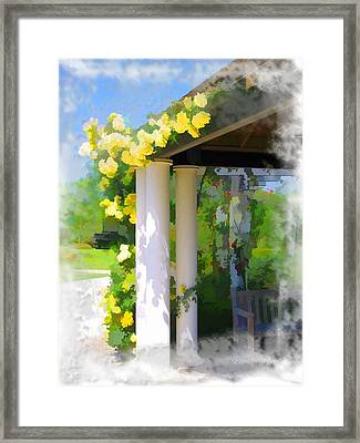 Framed Print featuring the photograph Do-00137 Yellow Roses by Digital Oil