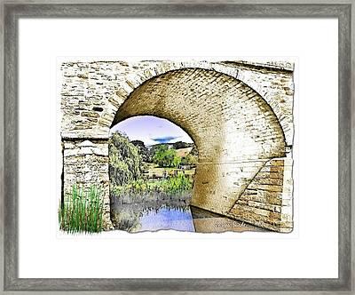 Framed Print featuring the photograph Do-00262 Richmond Bridge by Digital Oil