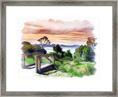 Do-00272 Look Out From Sarah Island Framed Print