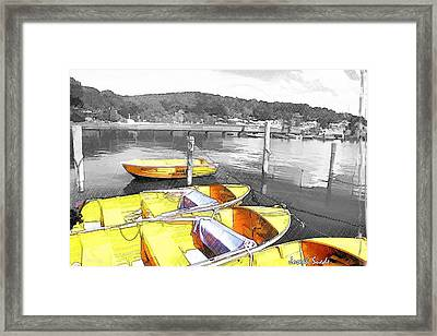 Do-00279 Yellow Boats Framed Print