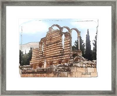Do-00302 Ruins In Anjar Framed Print