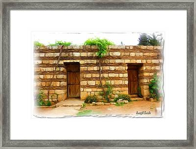 Framed Print featuring the photograph Do-00305 Old Hutt In Anjar by Digital Oil