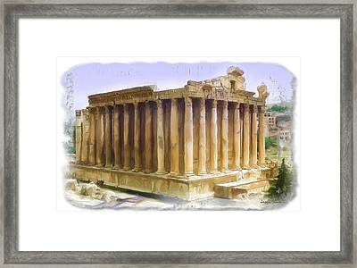 Do-00312 Temple Of Bacchus In Baalbeck Framed Print