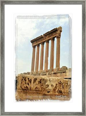 Do-00314 The 6 Corinthian Columns In Baalbeck Framed Print