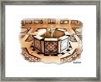 Framed Print featuring the photograph Do-00323 Old Bath Fountain by Digital Oil