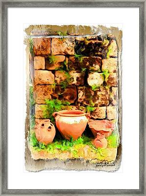 Framed Print featuring the photograph Do-00348 Jars In Byblos by Digital Oil