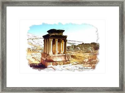 Do-00432 The Temple Of Faqra Framed Print