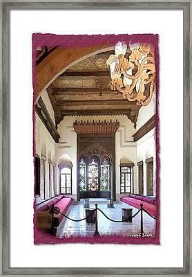 Do-00448 Reception Room At Beiteddine Framed Print
