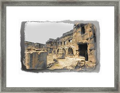 Framed Print featuring the photograph Do-00452 Inside The Ruins by Digital Oil