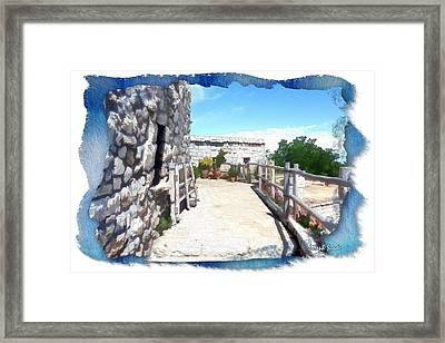 Framed Print featuring the photograph Do-00459 Mar Charbel Aanaya by Digital Oil