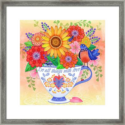 Do All Things With Love Framed Print
