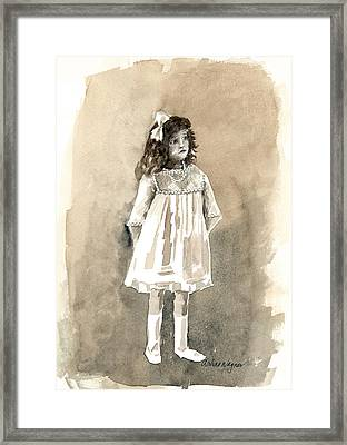 Do I Have To Wear A Dress Framed Print by Arline Wagner