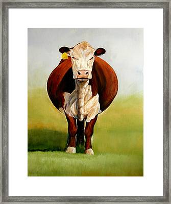 Do I Look Fat Framed Print by Toni Grote