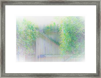 Do I Want To Leave The Garden Framed Print