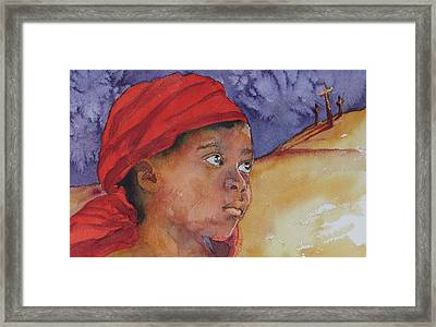 Do Not Be Afraid Framed Print by Donna Pierce-Clark