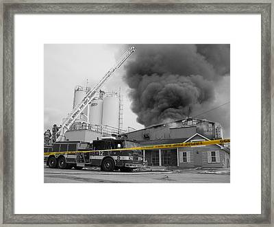 Do Not Cross Framed Print
