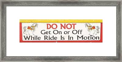 Do Not Framed Print by Kelly Mezzapelle