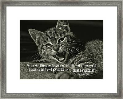Do Not Start With Me Quote Framed Print by JAMART Photography