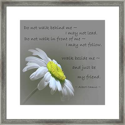 Framed Print featuring the mixed media Walk Beside Me by Movie Poster Prints
