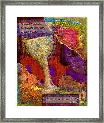 Do This In Remembrance Framed Print