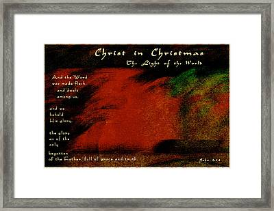 Do You See Christ In Christmas Framed Print by Terry Wallace