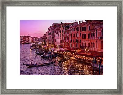 Magical, Venetian Blue Hour Framed Print
