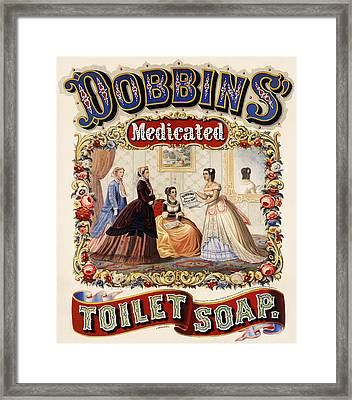 Dobbins Medicated Toilet Soap Framed Print