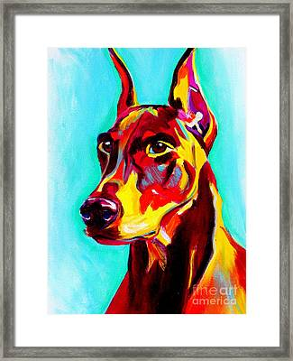 Doberman - Prince Framed Print by Alicia VanNoy Call
