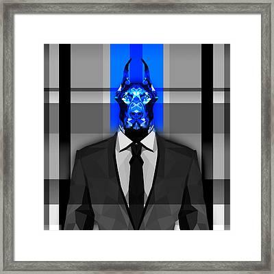 Doberman 16 Framed Print by Gallini Design