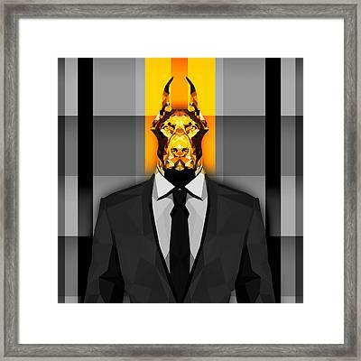 Doberman 17 Framed Print by Gallini Design